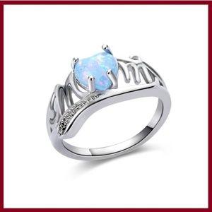 Jewelry - White Heart Opal Mom Ring